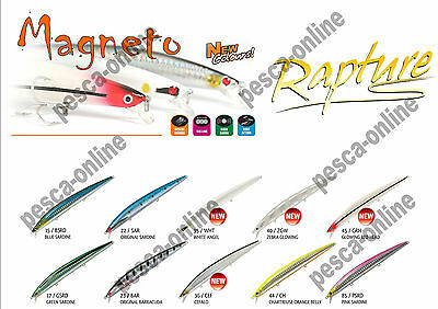 ARTIFICIALE MINNOW MAGNETO RAPTURE SLOW SINKING 145 mm. 22 gr. NEW COLOURS