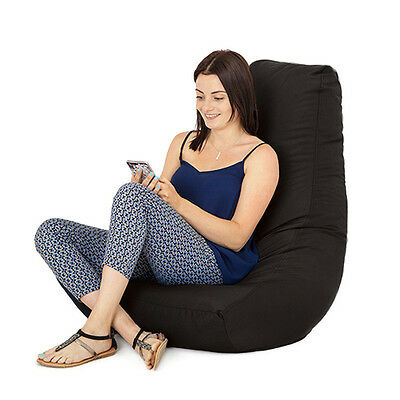 Black Gamer Adult Bean Bag Gaming Chair Big Giant Outdoor Seat Beanbag Highback
