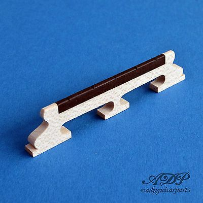 "CHEVALET BANJO 5 STRING BANJO BRIDGE MAPLE EBONY 5/8"" # 15,87mm spacing 1-11/16"""