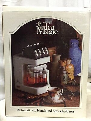 Vintage Tea Magic NEW IN BOX! Automatically Blends & Brews Herb Teas!!