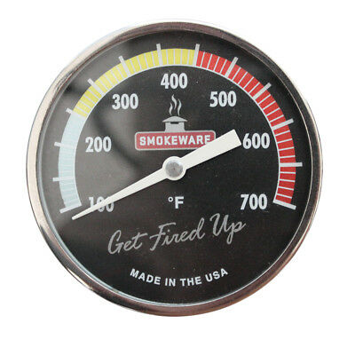 SmokeWare Multi-Colored Black Temp. Gauge for BGE