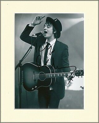 PETE DOHERTY THE LIBERTINES PP 8x10 MOUNTED SIGNED AUTOGRAPH PHOTO