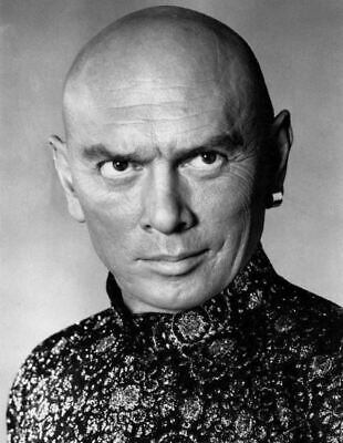 Yul Brynner Film Actor Glossy Black & White Photo Picture Print A4