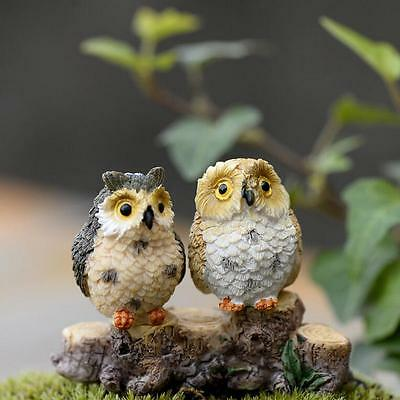 1PC Terrarium Owls Garden Bonsai Landscape Figurine Random Color Decor Fairy