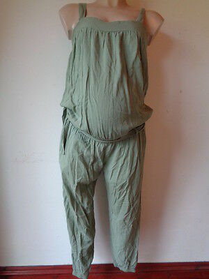 Mothercare Maternity Green Belted Jumpsuit All In One Size 12