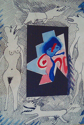 Brazil - Ivan Serpa - Original Drawing on Paper - Signed - Dated 1961
