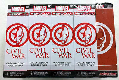 HeroClix Civil War OP Kit Brick of 8 Boosters and 1 Support Pack * NEW SEALED!