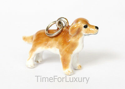 Sterling Silver Golden Retriever Charm / Pendant