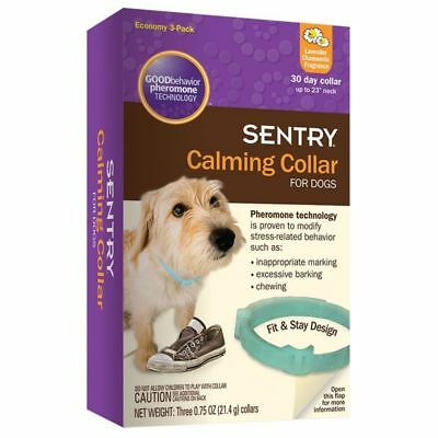SENTRY Calming Collar for Dogs , 3 Pack, (Free Shipping in USA)