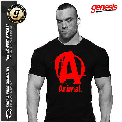 Universal Nutrition *BLACK/RED* ANIMAL ICONIC T-SHIRT Genuine Authentic