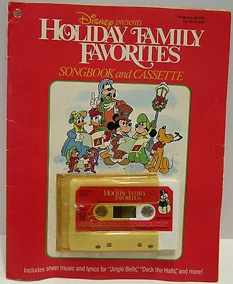 Disney Holiday Family Favorites Songbook and Cassette 1989 Sing Along Christmas