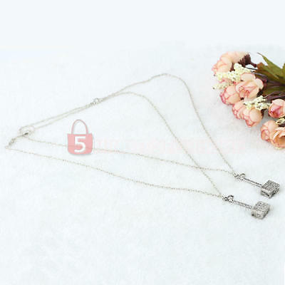 2 Pcs Men Boy's Hammer Design Pendant Silver Plated Chain Jewelry Necklaces New
