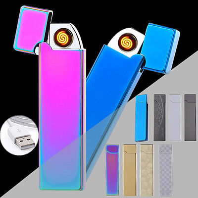 NEW Metal Electronic Lighters Windproof USB Charging Tungsten Cigar Lighter GIFT