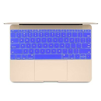 Hi-TECH Dark Blue Soft 12 inch Silicone Keyboard Protective Cover Skin for new