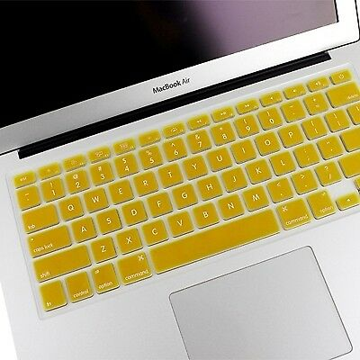 TECH Yellow ENKAY Soft Silicone Keyboard Protector Cover Skin for MacBook Air 1
