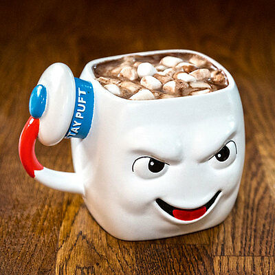 Ghostbusters 3D Mr Stay Puft Mug Coffee Tea Hot Drinks Ghost Marshmallow Man
