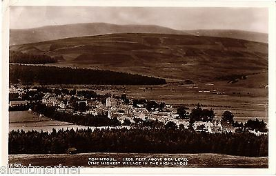 Tomintoul, sepia RP postcard, posted 1938