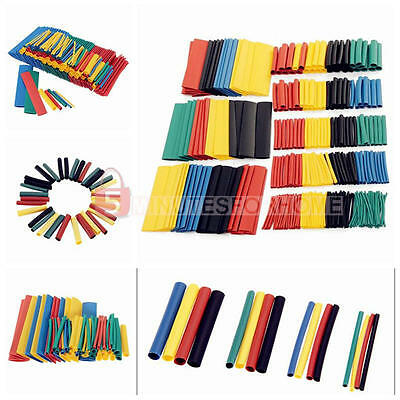 328Pcs Assortment 2:1 Heat Shrink Tubing Tube Sleeving Wrap Wire Cable 8Size Set