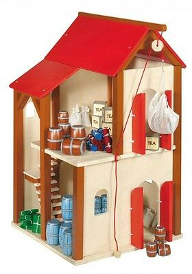 Wooden Warehouse Dolls House with Accessoires, GoKi (Germany)