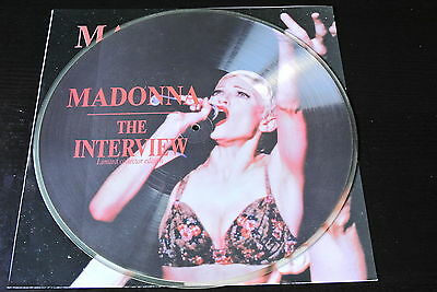 "12"" picture disc MADONNA the interview LTD RARE EU VINYL VINILO POSTER"