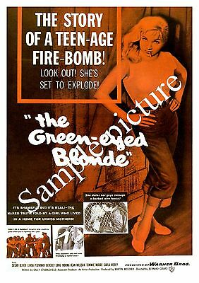 The Green eyed Blonde , Vintage movie advert , Reproduction poster, Wall art.