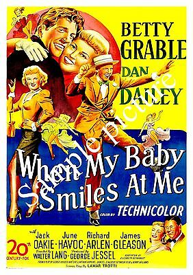 When my baby smiles  : Vintage movie advert , Reproduction poster, Wall art.