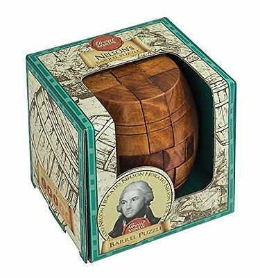 Nelson's Barrel Puzzle: Professor Puzzle Great Minds Wooden Puzzle