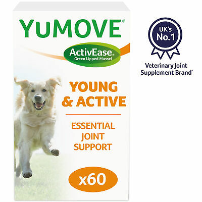 Lintbells Yumove Young & Active Dog Joint Support Supplement (60 Tablets)