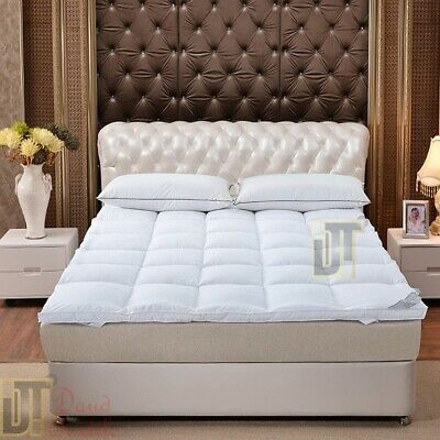 Luxury Duck Feather & Down Mattress Topper Available All Sizes Extra Thick