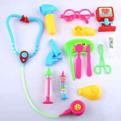 14pcs Doctor Medical Play Set Pretend Carry Case Kit Role Play Child Toys Gift