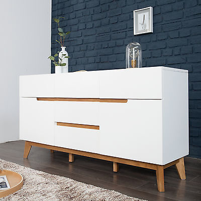 Sideboard 157cm wei massiv schlafzimmer kommode highboard for Kommode cervo