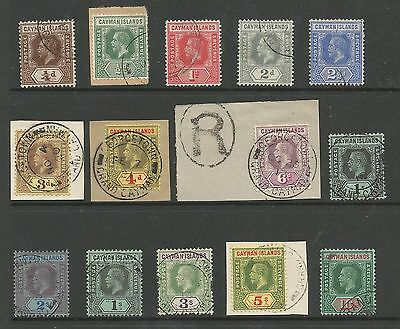 Cayman Islands Sg40-52 The 1912-20 Gv Set Of 13+ Shade 1/- Very Fine Used C£500+