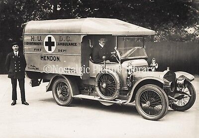 Photograph.1916 Straker Squire Hendon Red Cross Ambulance