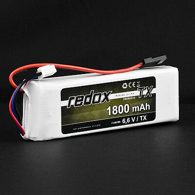 REDOX - LiFe 6,6V TX BATTERY PACK (JR) - DIFFERENT CAPACITIES!  - GALAXY RC