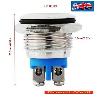 16mm Waterproof Momentary Action Metal Push Button Switch #S58