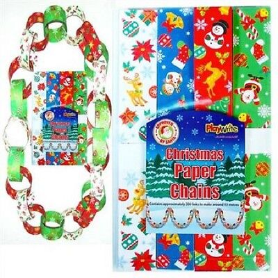 100 christmas paper chains - xmas - arts and craft - festive - decoration