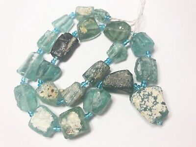 Genuine Roman Glass Fragment Beads With Patina 1000-1500Yrs Old RG912