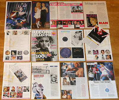 MADONNA clippings 1980s/2010s photos magazine articles nude sexy cuttings
