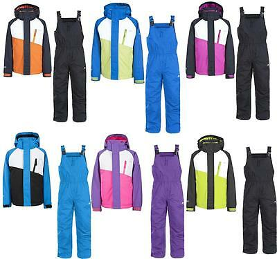 Trespass Crawley Kids Ski Suit Set Waterproof Windproof Insulated