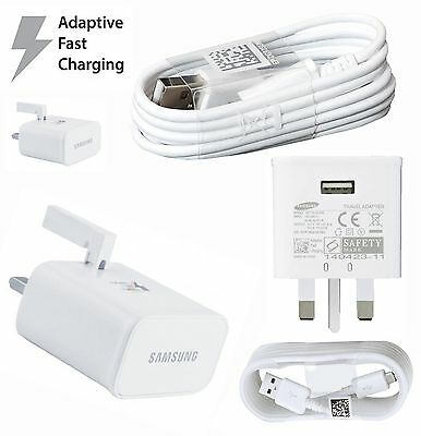 UK Wall Charger  Samsung Galaxy S6/S7/edge Note 4/3 Wall Charger +USB Cable New