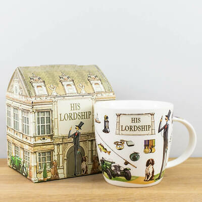 New Churchill China At Your Leisure His Lordship Novelty House Gift Boxed Mug