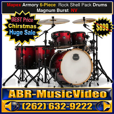 Mapex Armory Series Studioease 6-Piece Drum Shell Pack-Magna Red