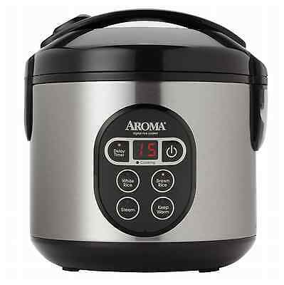 Kitchen Cup Perfect Rice Cooker 8 Aroma Steamer Digital Cooked Food Stainless