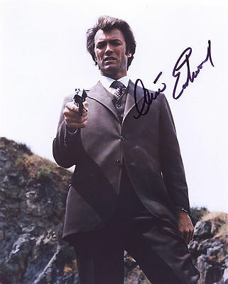 Clint Eastwood Autograph Signed Photo Preprint Glossy Portrait Dirty Harry