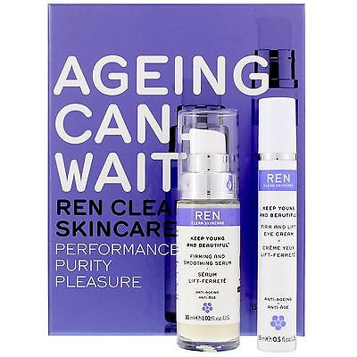 REN Clean Skincare Face Ageing Can Wait Kit gift set BRAND NEW