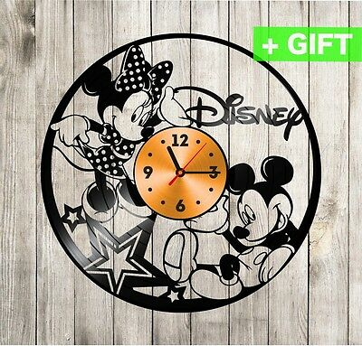 Mickey Mouse Clock Mickey and Minnie clock vinyl gift Mickey Mouse wall decor