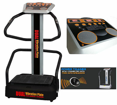 Brand New High Power Dual Vibration Plate - Twin Speakers