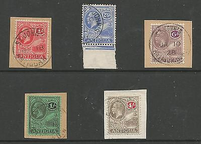 Antigua Bet Sg63-80 Gv Selection Of 5 Inc The Top Value 4/- Fine Used Cat £100