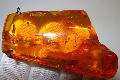 Vintage 21,86 Gm Polished Natural Genuine Baltic Amber Stone Pendant