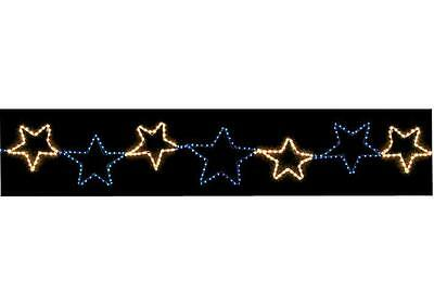 9 Piece Christmas Stars Chasing Rope Silhouettes LED Xmas Lights Decoration